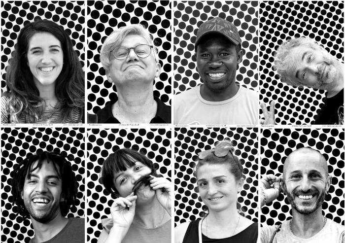 Modena, installazione Inside Out: liberi di essere... Almeno coi volti