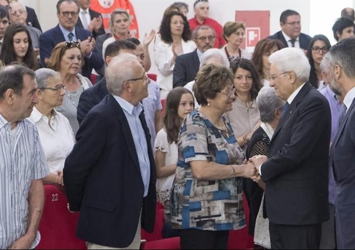 Mattarella a Mirandola: 'Bene la ricostruzione di imprese e scuole, i centri storici e gli edifici pubblici possono attendere'
