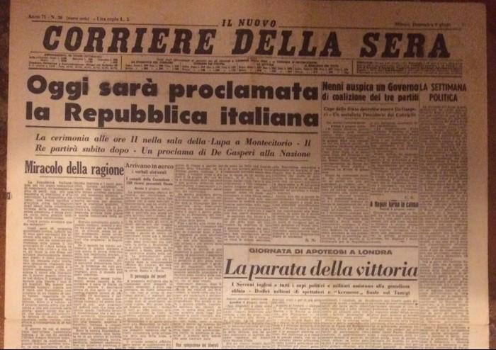 Referendum 2 giugno 1946: nasce la Repubblica italiana