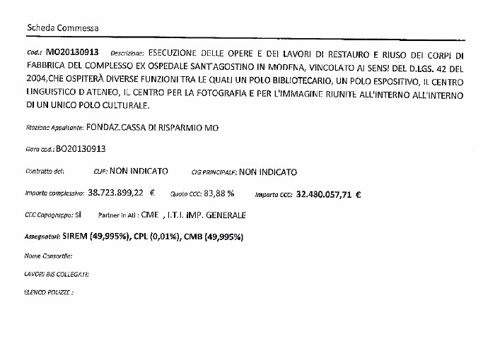 CCC-Integra: così il maxi appalto del Sant'Agostino passa alla newco ripulita