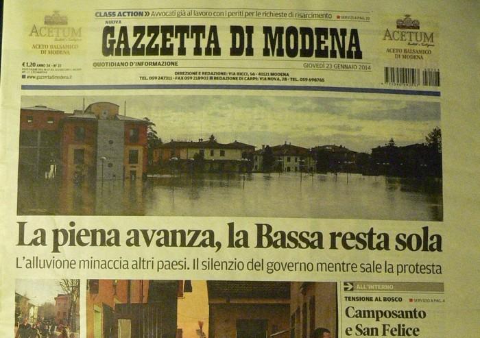 Quattro anni fa l'alluvione di Bastiglia e Bomporto