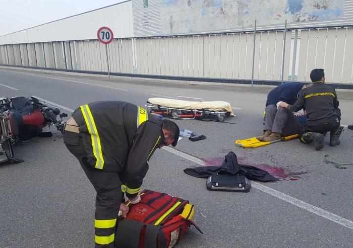 Tre incidenti in poche ore: ferito un motocilcista
