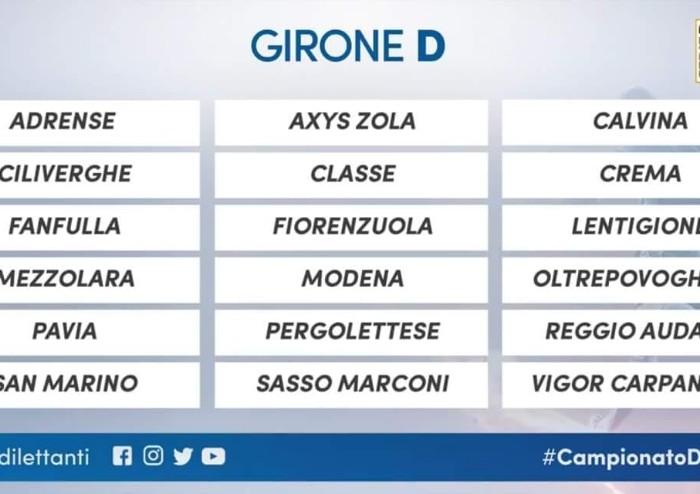 Serie D, ecco i gironi, sarà ancora Modena Reggiana