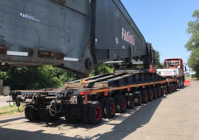 Ecco il mega trasformatore, tutto pronto per il trasporto eccezionale