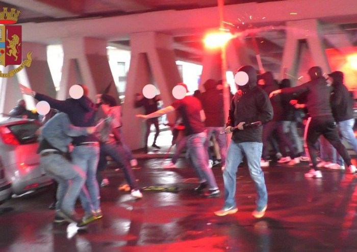 Scontri Modena-Reggio Audace: sette tifosi reggiani denunciati