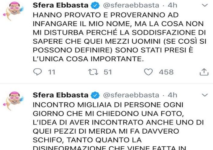Sfera Ebbasta condanna video con Di Puorto: 'Pezzi di m...'