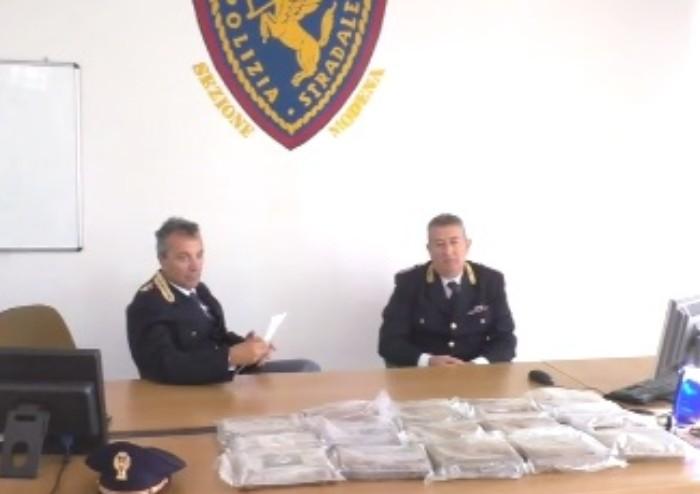 In auto con cocaina per 3 milioni e mezzo di euro: bloccato corriere