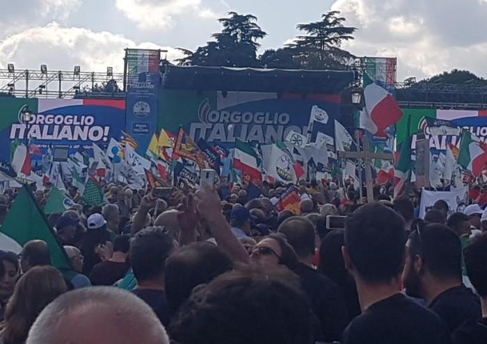 Orgoglio Italiano, il centro-destra unito riempie Piazza San Giovanni
