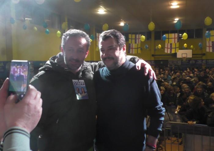 Bagno di folla per Salvini a Pieve: 'Qui in montagna siete degli eroi'