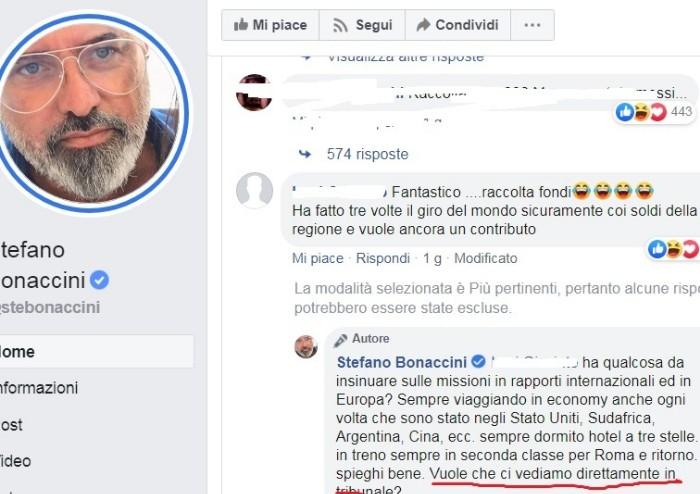 Critiche raccolta fondi, Bonaccini minaccia: 'Ci vediamo in tribunale'