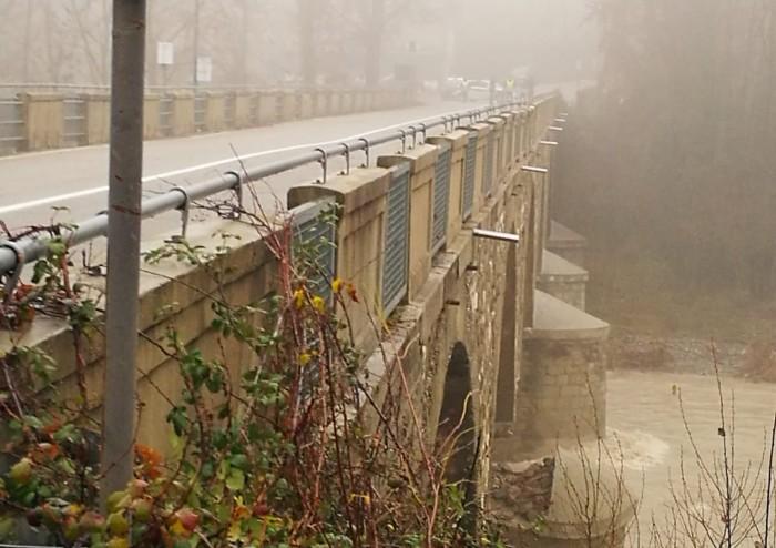 Piena del Panaro: cede un pilone a Ponte Samone di Pavullo