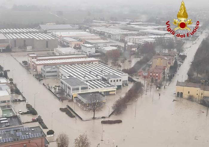 Alluvione tra Gaggio e Nonantola: le immagini e il video dall'alto