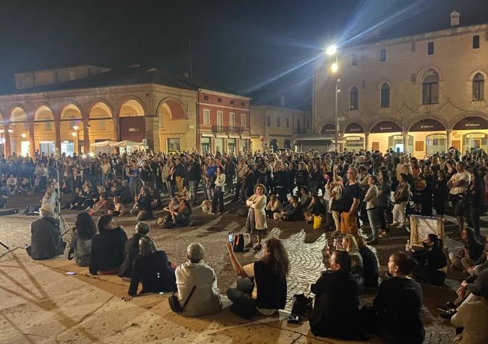 'No Paura day' a Carpi, in centinaia in piazza contro il Green Pass